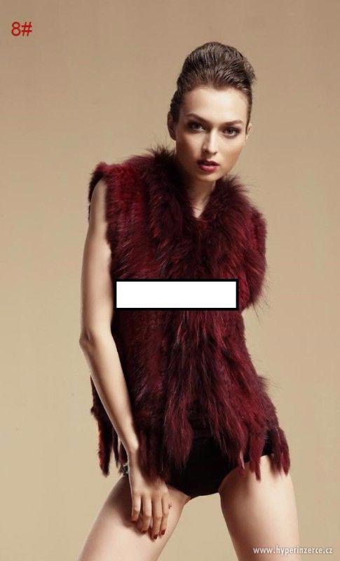 Luxusní kožešinová vesta z králíka a mývala - foto 2