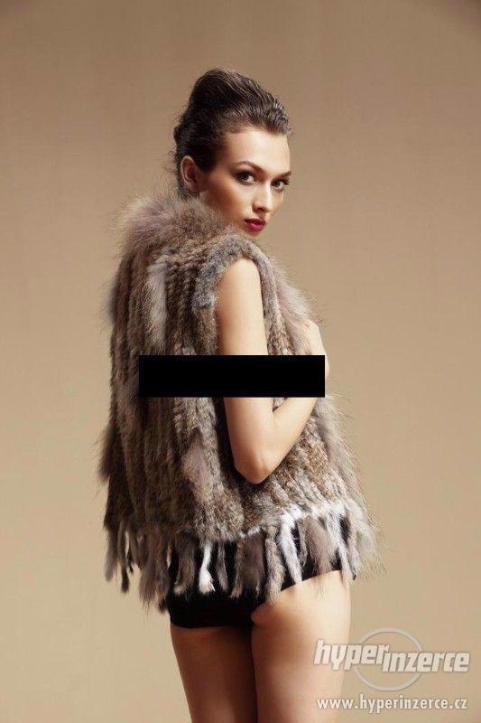 Luxusní kožešinová vesta z králíka a mývala - foto 6