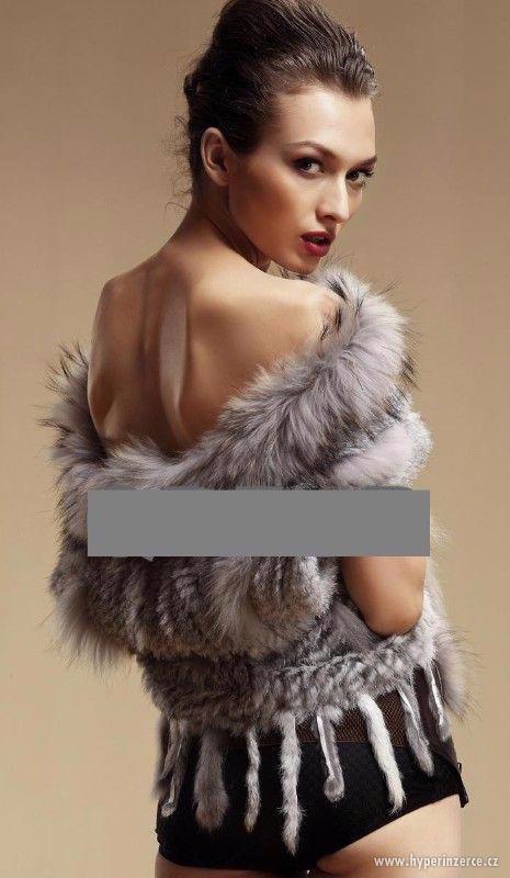 Luxusní kožešinová vesta z králíka a mývala - foto 12