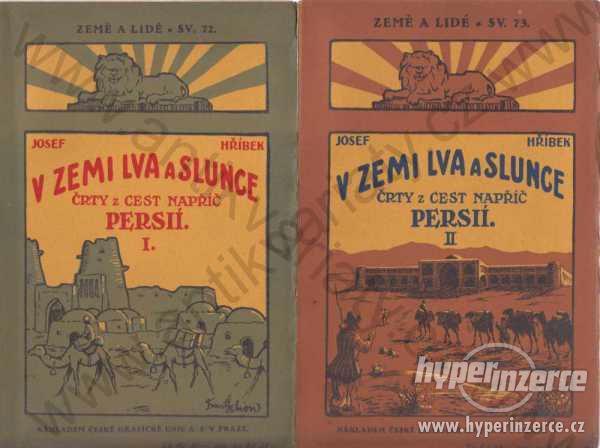 V zemi lva a slunce I., II. Josef Hříbek 1927 - foto 1