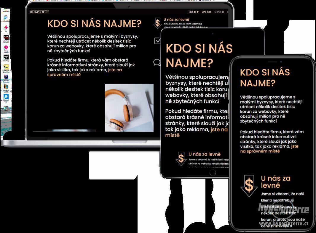 WEBDESIGN informativních stránek za VÝHODNOU cenu - foto 1