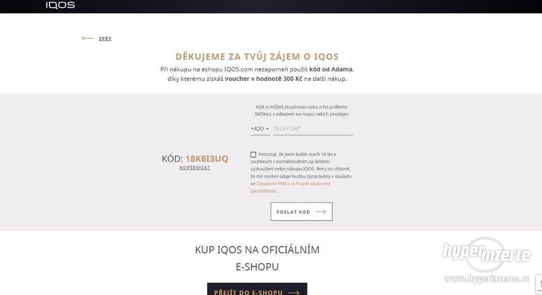 IQOS sleva 300 Kč plus karton zdarma
