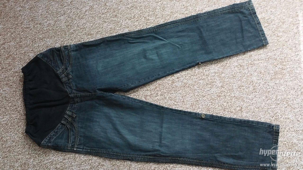 Těhotenské rifle + 3/4 kalhoty ( 3 kusy ) - foto 1