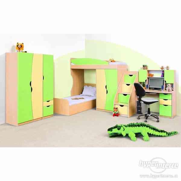 Kompletní dětský pokojík - zelený, nebo oranžovaný
