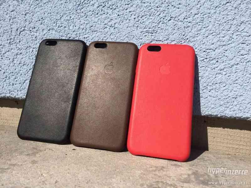 Kožené barevné kryty na iPhone 6/6S + Dárek!