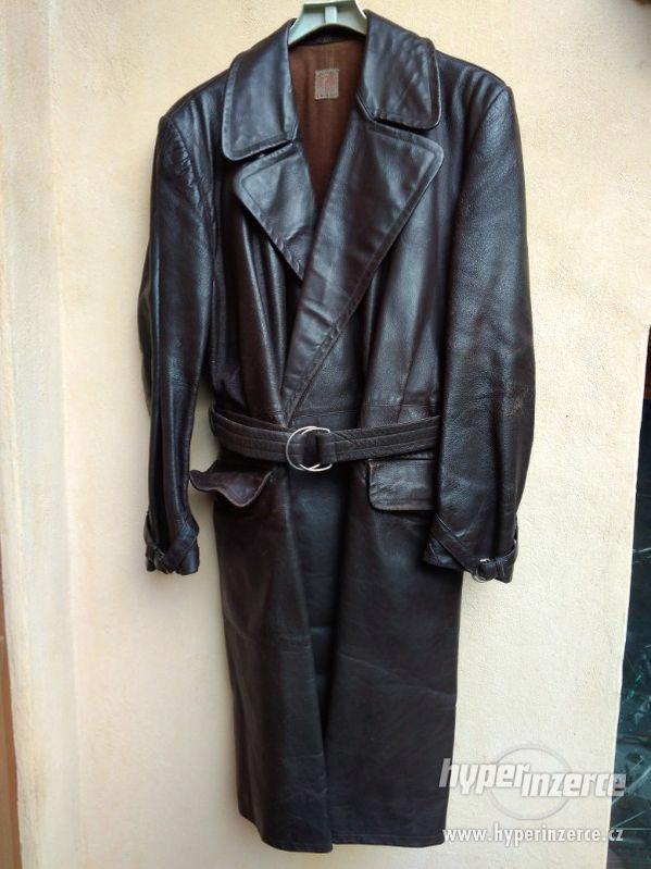 kožený pánský retro  kabát