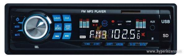 AUTORÁDIO MP3 USB + SDMMC + ISO +OVLÁDAČ 4X50W