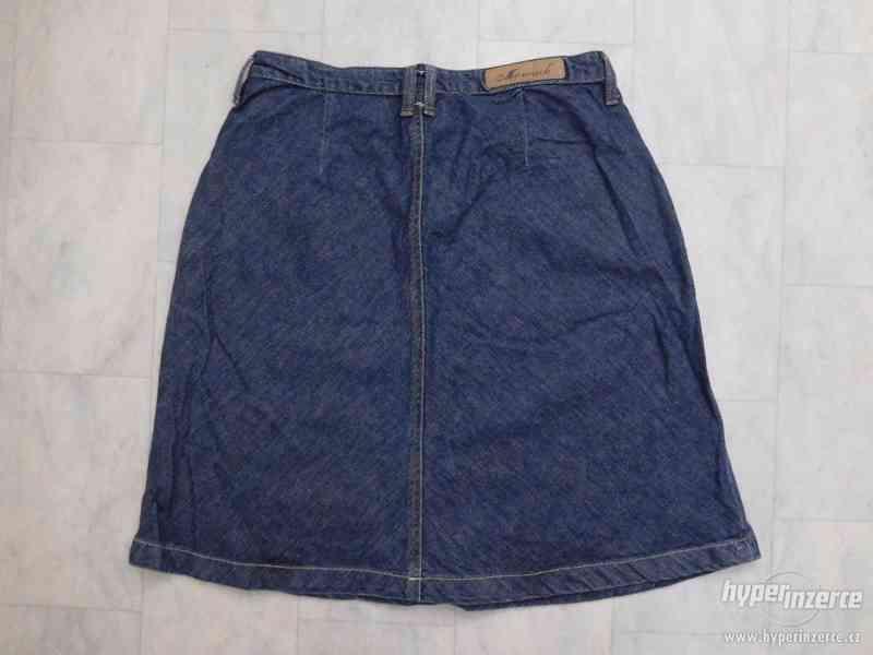 riflová áčková sukně