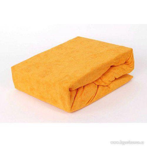 prostěradlo Froté 160 x 200 cm oranžová