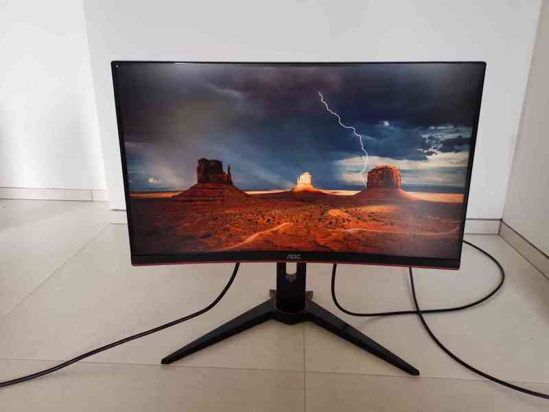 Prodám herní monitor AOC C24G1 Full HD, 144 Hz, 1 ms odezva - foto 3