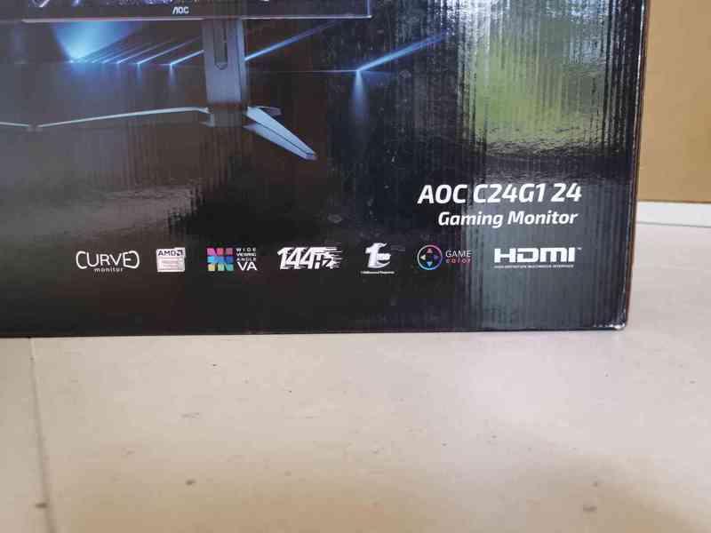 Prodám herní monitor AOC C24G1 Full HD, 144 Hz, 1 ms odezva - foto 2