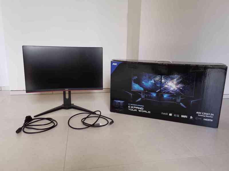 Prodám herní monitor AOC C24G1 Full HD, 144 Hz, 1 ms odezva - foto 1