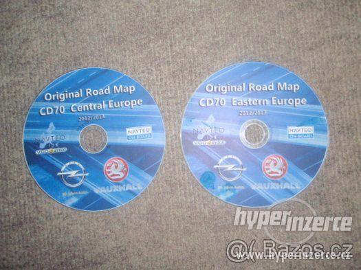 Prodám mapy+češtinu pro rok 2015 pro Opel NAVI CD70 a DVD90