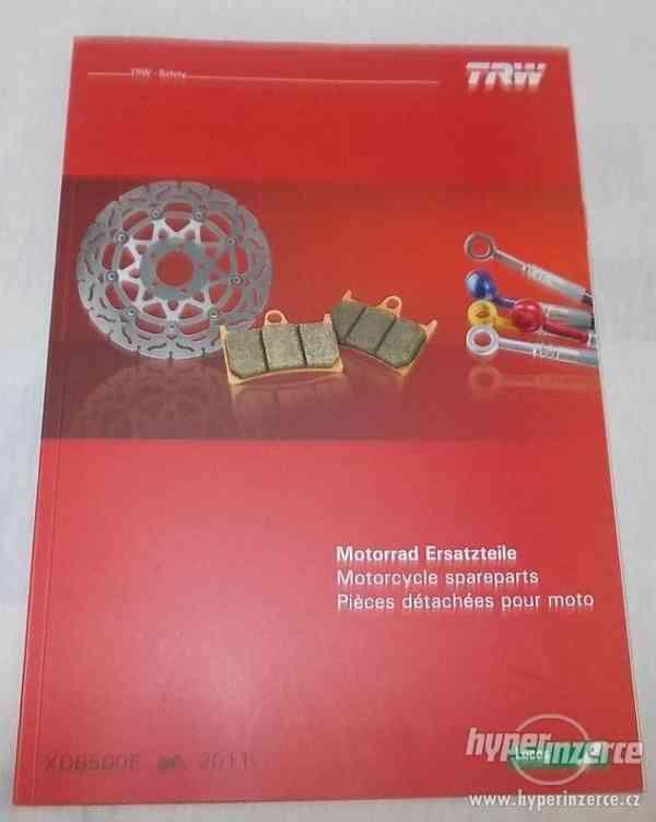 Katalog náhradních dílů na motorky TRW + kat.příslušenství