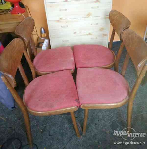 Židle retro sada Expo 4ks - stůl rozkládací. - foto 4