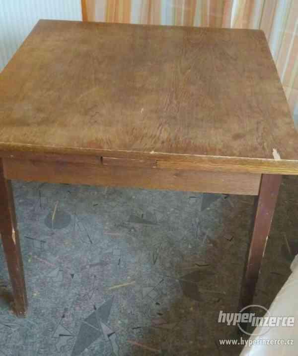 Židle retro sada Expo 4ks - stůl rozkládací. - foto 7