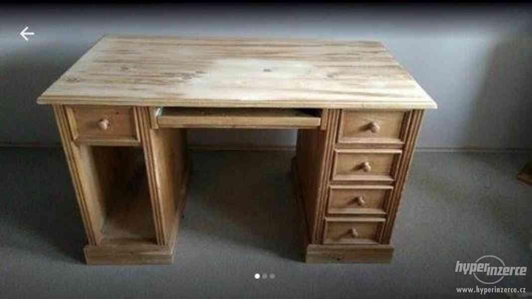 Prodám masivní celodřevěný stůl
