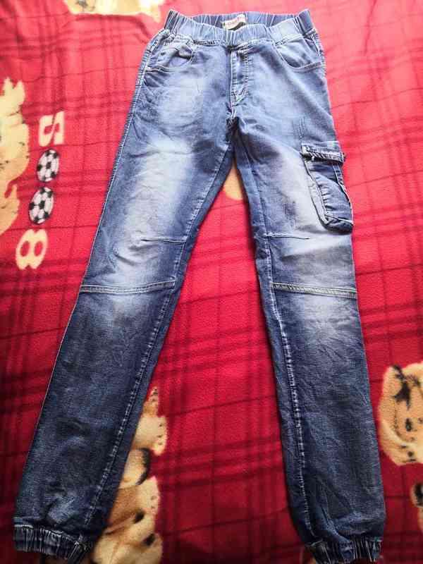 Chlapecké džíny 3 ks, vel. 164, oblečené 1x nebo vůbec