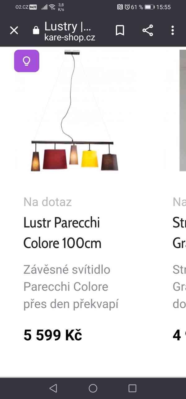 Designový lustr Kare prodám