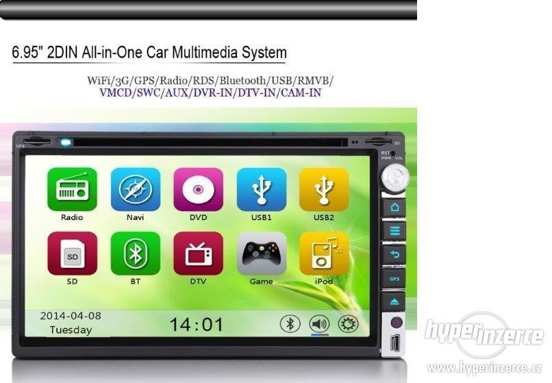 2DIN Dotykove Autoradio + Navi GPS DVD BLUETOOTH USB SD