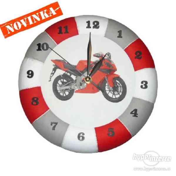 Nástěnné hodiny Motorky nové - foto 1