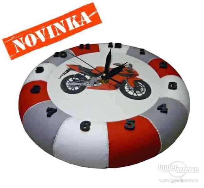 Nástěnné hodiny Motorky nové - foto 2