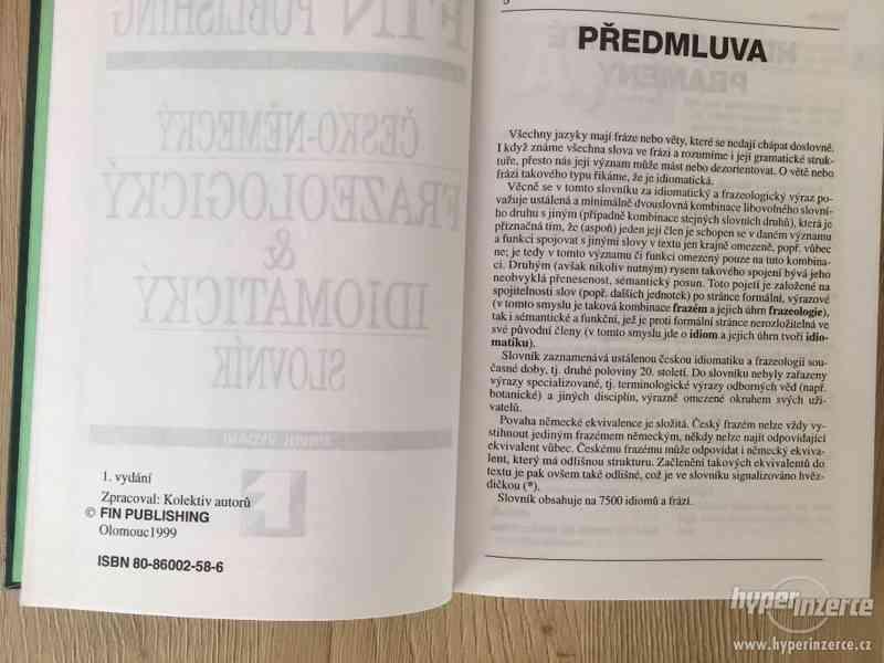 FRAZEOLOGICKÝ A IDIOMATICKÝ SLOVNÍK - ČESKO-NĚMECKÝ - foto 4