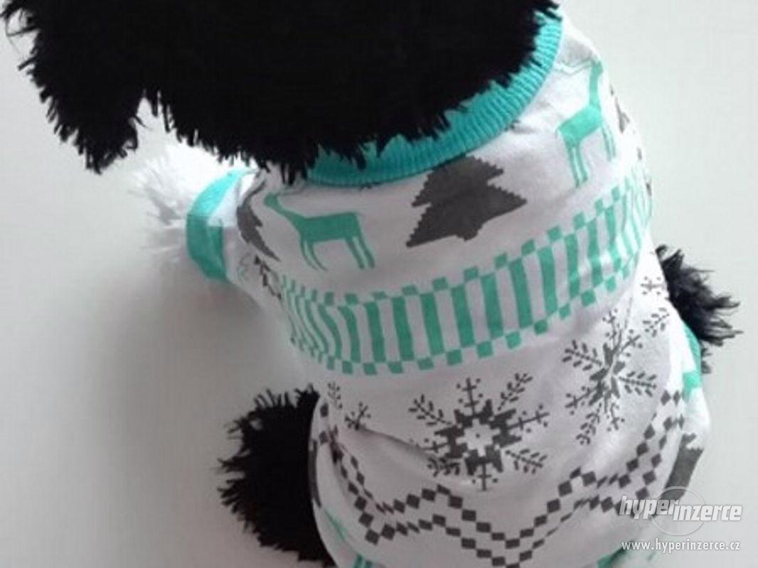 zelenomodré triko pro malého psa / kočku - foto 1