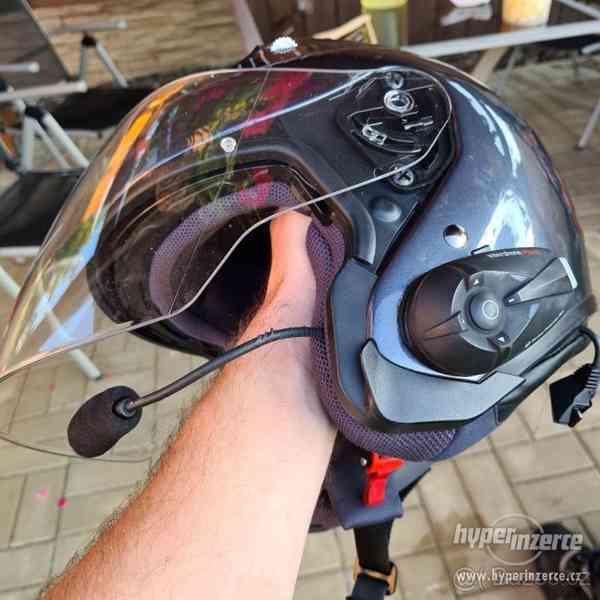 Motorkářská helma HJC + intercom