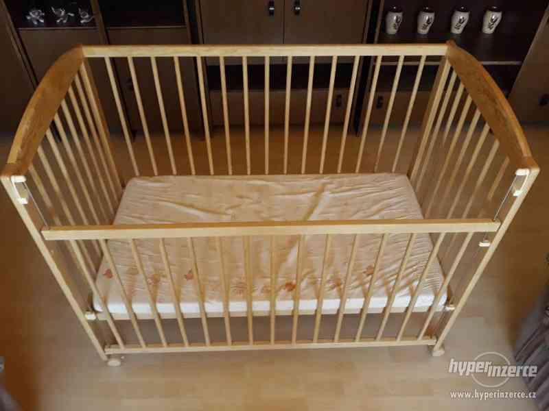Dětská postýlka SCARLETT (120x60x95cm) + matrace