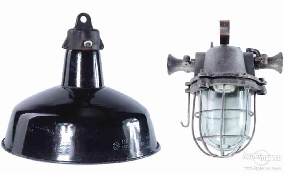 Koupím staré použite, průmyslové, tovární, industriální lamp