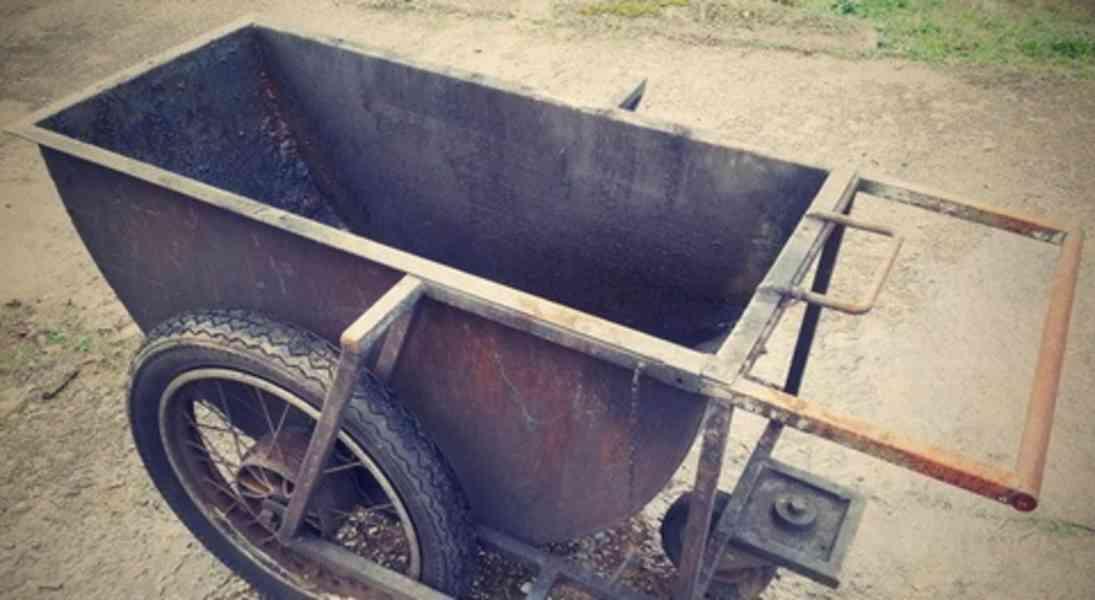 Vozík na kovošrot výklopný 1550x900x770mm (6177.)