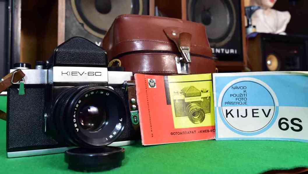 KIEV 6C fotoaparát + objektiv VEGA 12B + kožené pouzdro