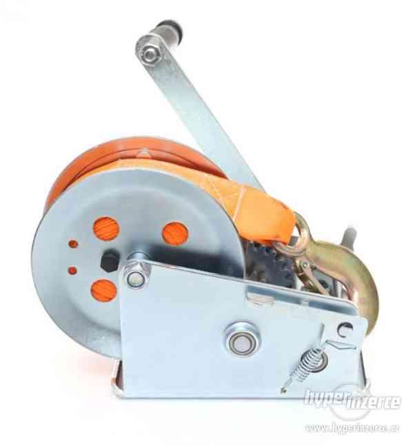 Ruční pásový naviják kladnostroj zvedák 1588kg 10m - foto 4