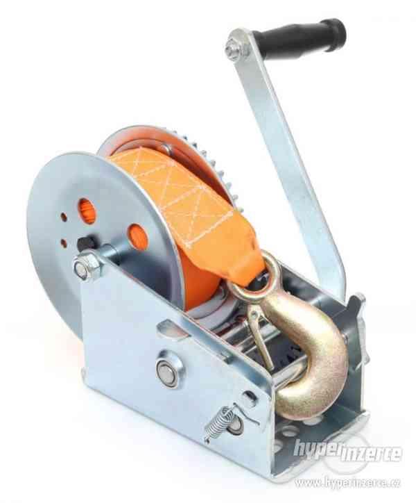 Ruční pásový naviják kladnostroj zvedák 1588kg 10m - foto 5