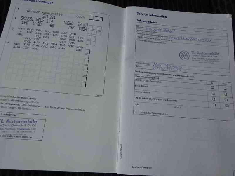 VW Golf 1.4i r.v.2010 (59 KW) serviska stk7/2023 - foto 20