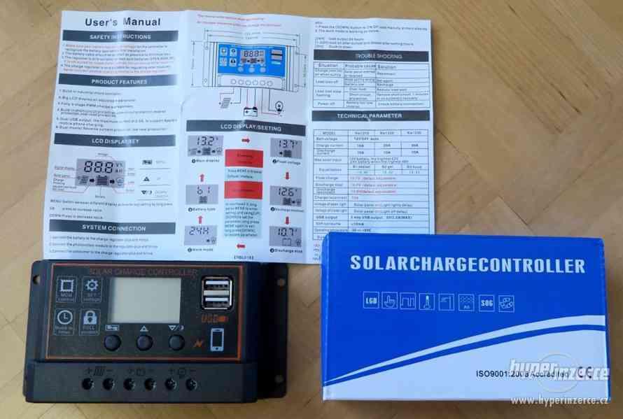 Solární panel fotovoltaický 175W - 12V polykrysal, přísluš. - foto 5