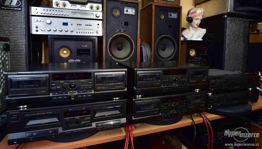 Technics kazetové magnetofony a CD přehrávače