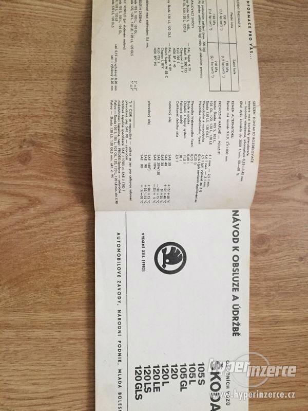 Škoda 105/120/Garde/Rapid - seznamy ND, příručky, prospekty - foto 6