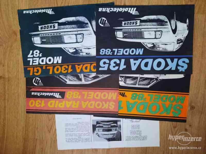 Škoda 105/120/Garde/Rapid - seznamy ND, příručky, prospekty - foto 8