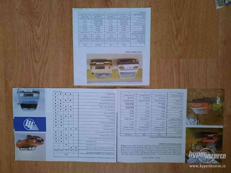 Škoda 105/120/Garde/Rapid - seznamy ND, příručky, prospekty - foto 10