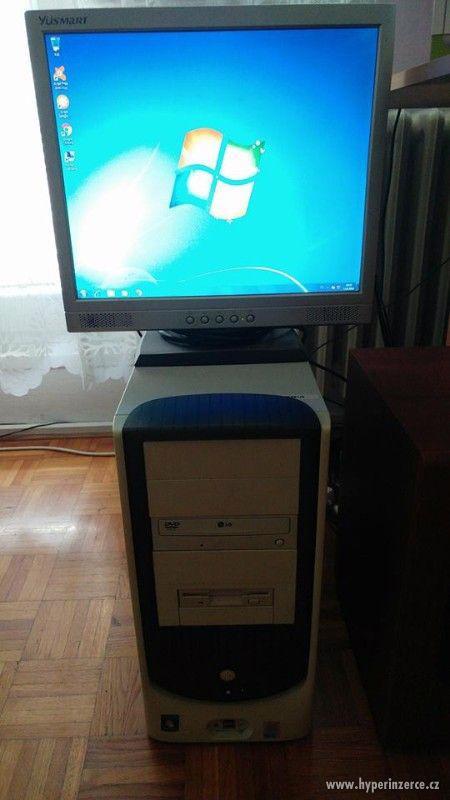 Pc včetně Lcd monitoru,klávesnice a myši - foto 3