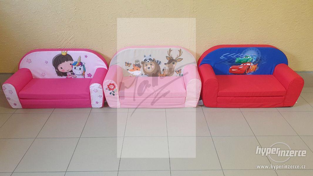 NOVÉ Dětské Rozkládací Pohovky 2v1 (Možný ZDARMA Dovoz) - foto 8