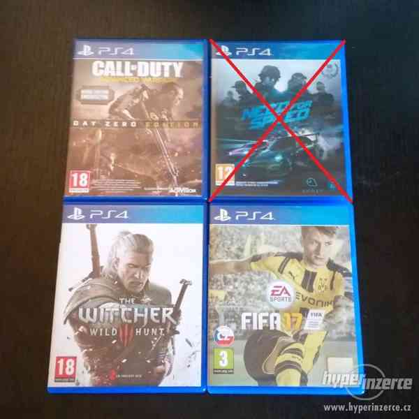 PS4 Call of Duty, The Witcher 3, FIFA 17