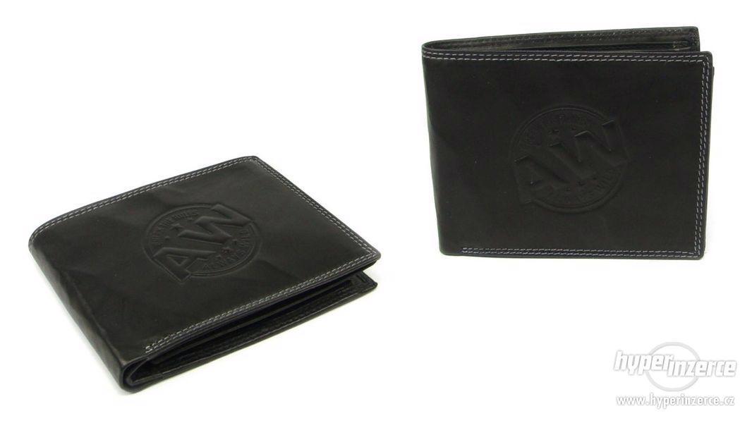 Peněženka kožená černá pánská