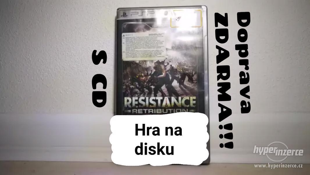 ● HRY ZA STOVKU!! ●RESISTANCE RETRIBUTION ● VIDEOHRA NA PSP - foto 1
