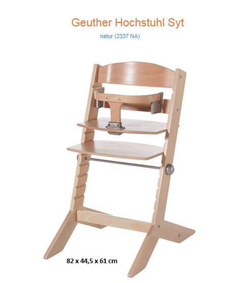NOVÉ ZBOŽÍ Geuther Jídelní židlička Syt