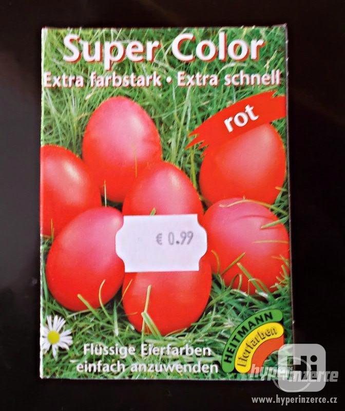 Kvalitní  tekutá barva na vajíčka-červená - foto 1