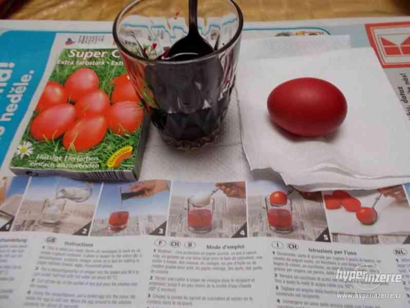 Kvalitní  tekutá barva na vajíčka-červená - foto 2