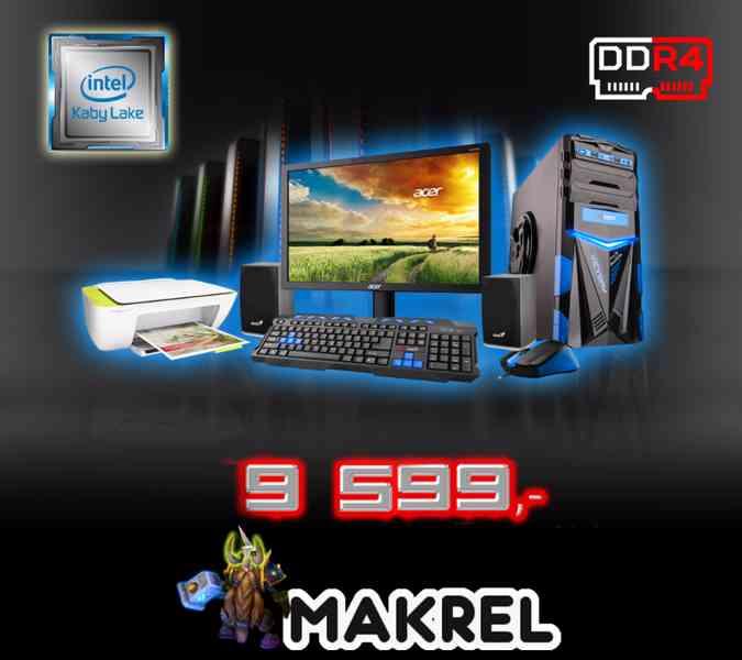 Intel G3930,4GB DDR4,1TB HDD,1GB s komplet příslušenstvím